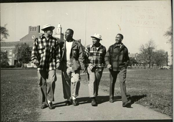 Vintage Photopgraph of Students Heading to Class - 1950s