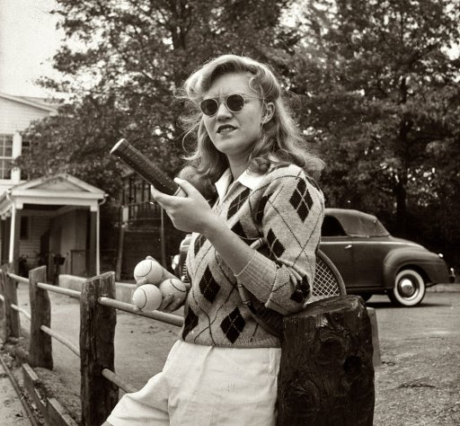 Photo of Female College Student - 1940s