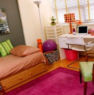Ideas for Dorm Rooms - Bright and Colorful