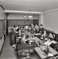 Old College Photographs - Women in Chemistry Class