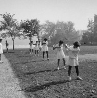 Vintage Photo of College Golf Class
