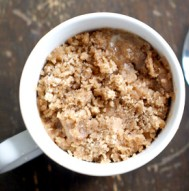 Dorm Room Dessert - Coffee Cake in a Mug